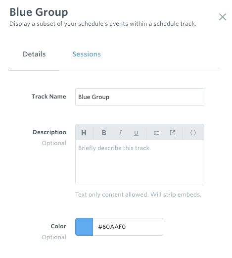 Schedule Tracks: Filtered Views of Your Schedule – Guidebook