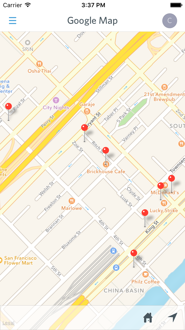 pro tip use google maps to show multiple pins at once guidebook